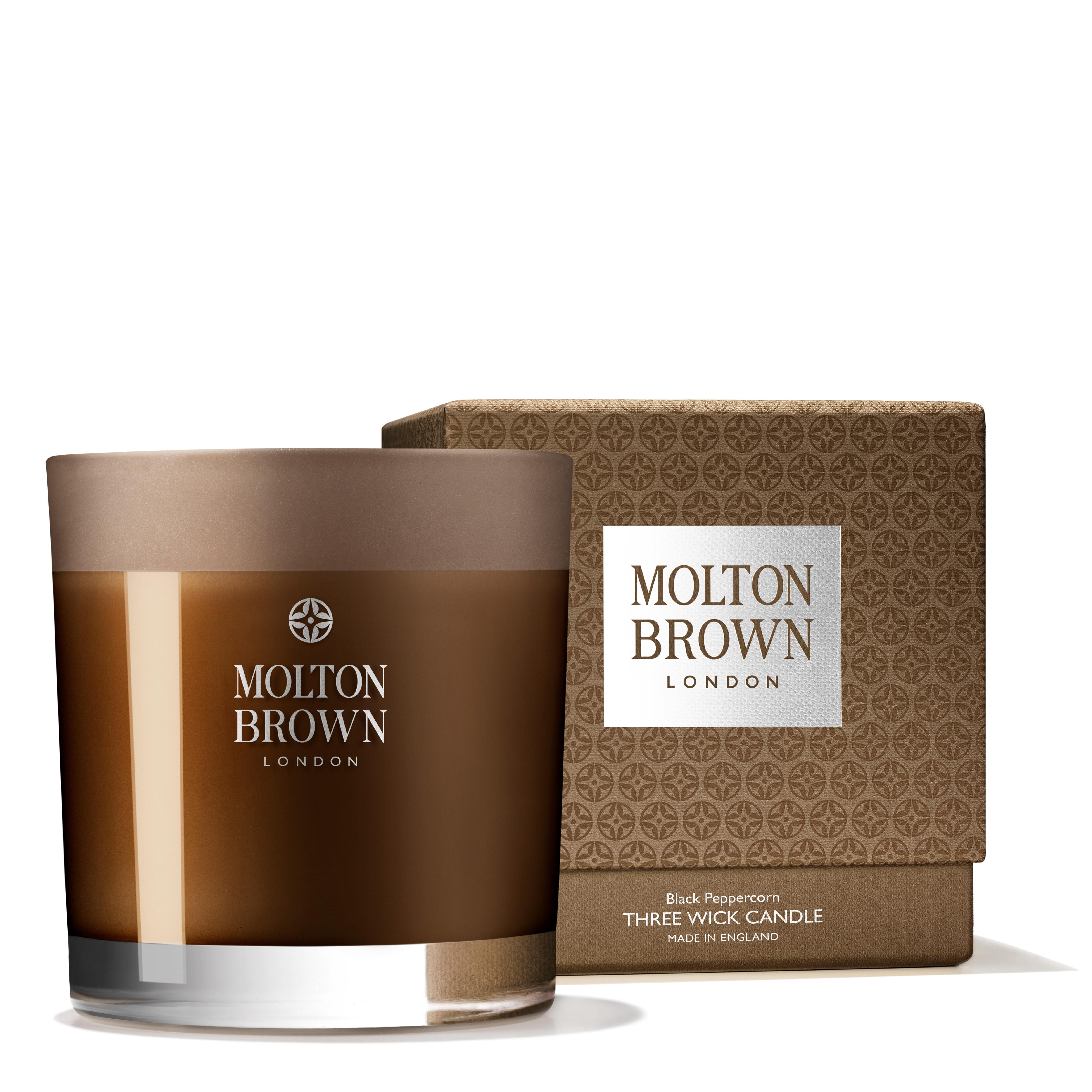 Molton brown black pepper three wick scented candle for Candele on line