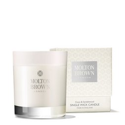 Molton Brown EU  Coco & Sandalwood Single Wick Scented Candle