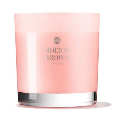 Delicious Rhubarb and Rose Three Wick Candle