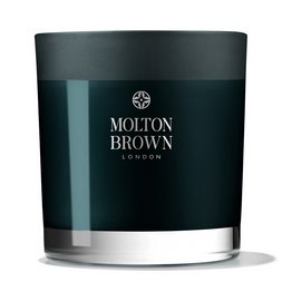 Molton Brown EU  Russian Leather Three Wick Scented Candle