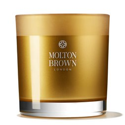Molton Brown USA  Oudh Accord & Gold Three Wick Scented Candle