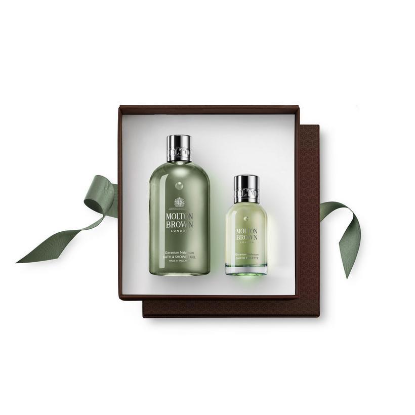 Geranium Nefertum Fragrance Rituals Gift Set. Choose Your Sticker