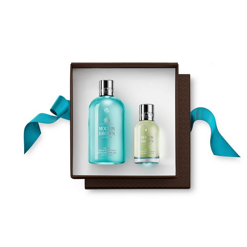 Coastal Cypress and Sea Fennel Fragrance Rituals Gift Set. Choose Your Sticker