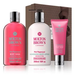 Molton Brown Australia Pink Pepperpod Shower Gel, Body Lotion & Hand Cream Gift Set