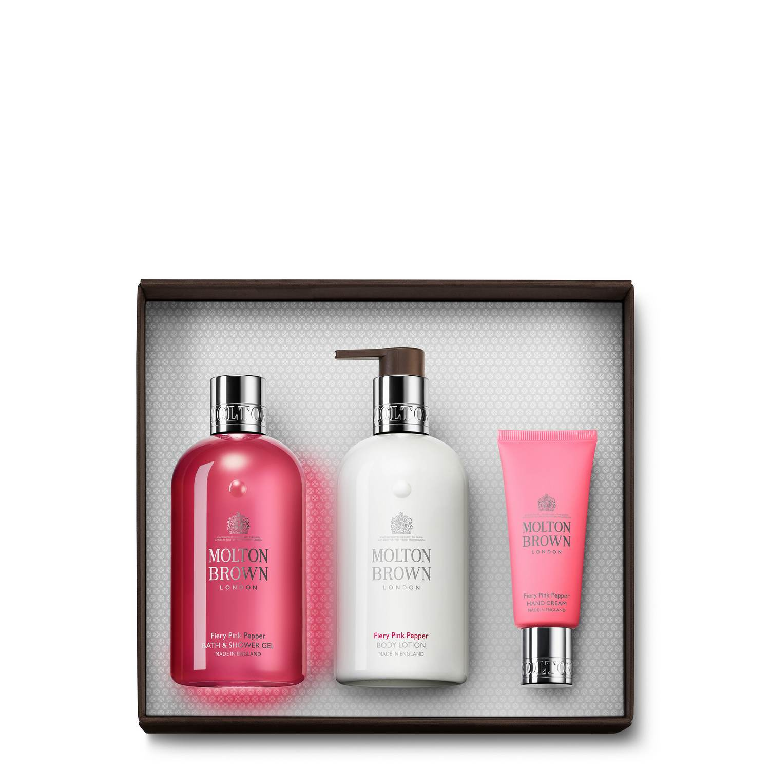 Pink Pepper Shower Gel, Body Lotion & Hand Cream Gift Set