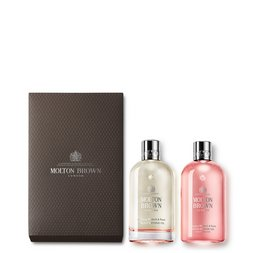 Molton Brown UK Rhubarb & Rose Bathing Oil Gift Set