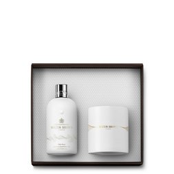 Molton Brown UK Milk Musk Candle & Bath & Shower Gel Gift Set