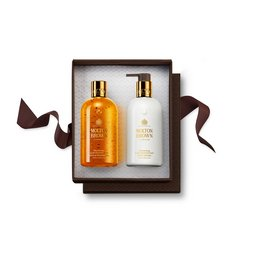 Molton Brown Australia Oudh Accord & Gold Shower Gel & Body Lotion Gift Set