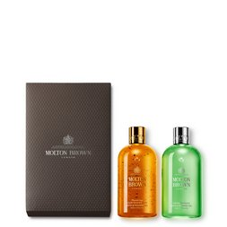 Molton Brown UK Oudh Accord & Gold & Eucalyptus Shower Gel Gift Set