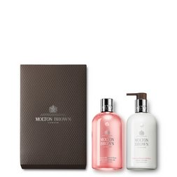 Molton Brown UK Delicious Rhubarb & Rose Shower Gel & Lotion Set