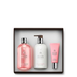 Molton Brown USA  Rhubarb & Rose Body Wash, Body Lotion & Hand Cream Gift Set
