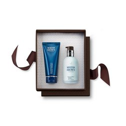 Molton Brown UK Men's Face Wash & Moisturiser Gift Set for Dry Skin