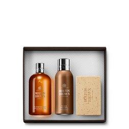Molton Brown USA  Black Pepper Body Wash, Anti-perspirant Stick & Scrub Bar Gift Set for Him