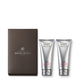 Molton Brown UK Re-charge Black Pepper SPORT 4-in-1 Wash & Body Scrub Gift Set