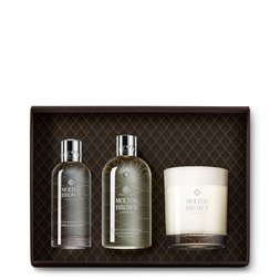 Molton Brown USA  Coco & Sandalwood Body Wash, Room Spray & Scented Candle Gift Set