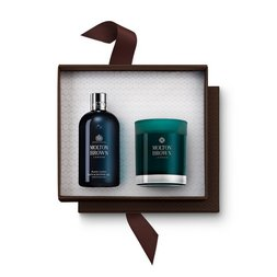 Molton Brown Australia Russian Leather Shower Gel & Candle Gift Set