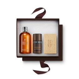 Molton Brown EU  Black Pepper Shower Gel, Anti-Perspirant Stick & Scrub Bar Gift Set for Him