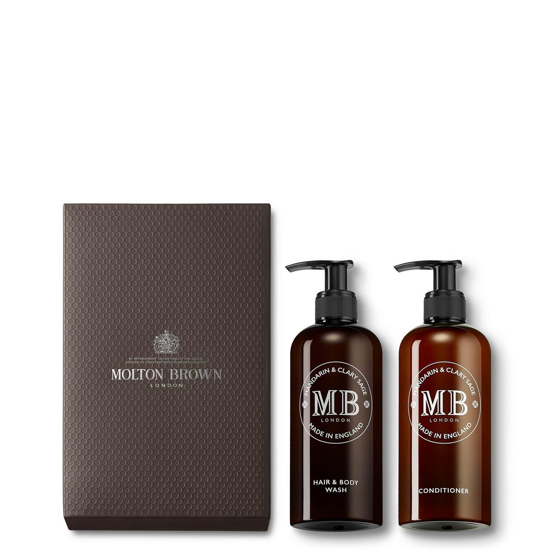 1973 Mandarin & Clary Sage Hair & Bath Gift Set by Molton Brown