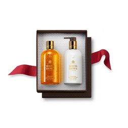 Molton Brown EU  Oudh Accord & Gold Shower Gel & Body Lotion Gift Set