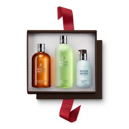 Molton Brown UK Black Pepper Shower Gel, Shampoo & Moisturiser Gift Set for Him