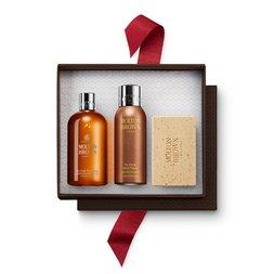Molton Brown UK Black Pepper Shower Gel, Deodorant & Scrub Bar Gift Set for Him
