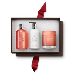 Molton Brown UK Gingerlily Bath & Shower Gel, Body Lotion & Scented Candle Gift Set