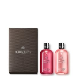 Molton Brown UK Pink Pepper & Rhubarb & Rose 2-Piece Bath & Shower Gel Gift Set