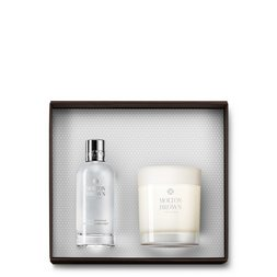 Molton Brown UK Coco & Sandalwood Linen Mist & Single Wick Candle 2-Piece Set
