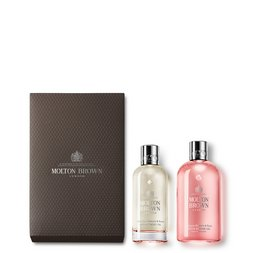 Molton Brown EU | Delicious Rhubarb & Rose Body Oil Gift Set